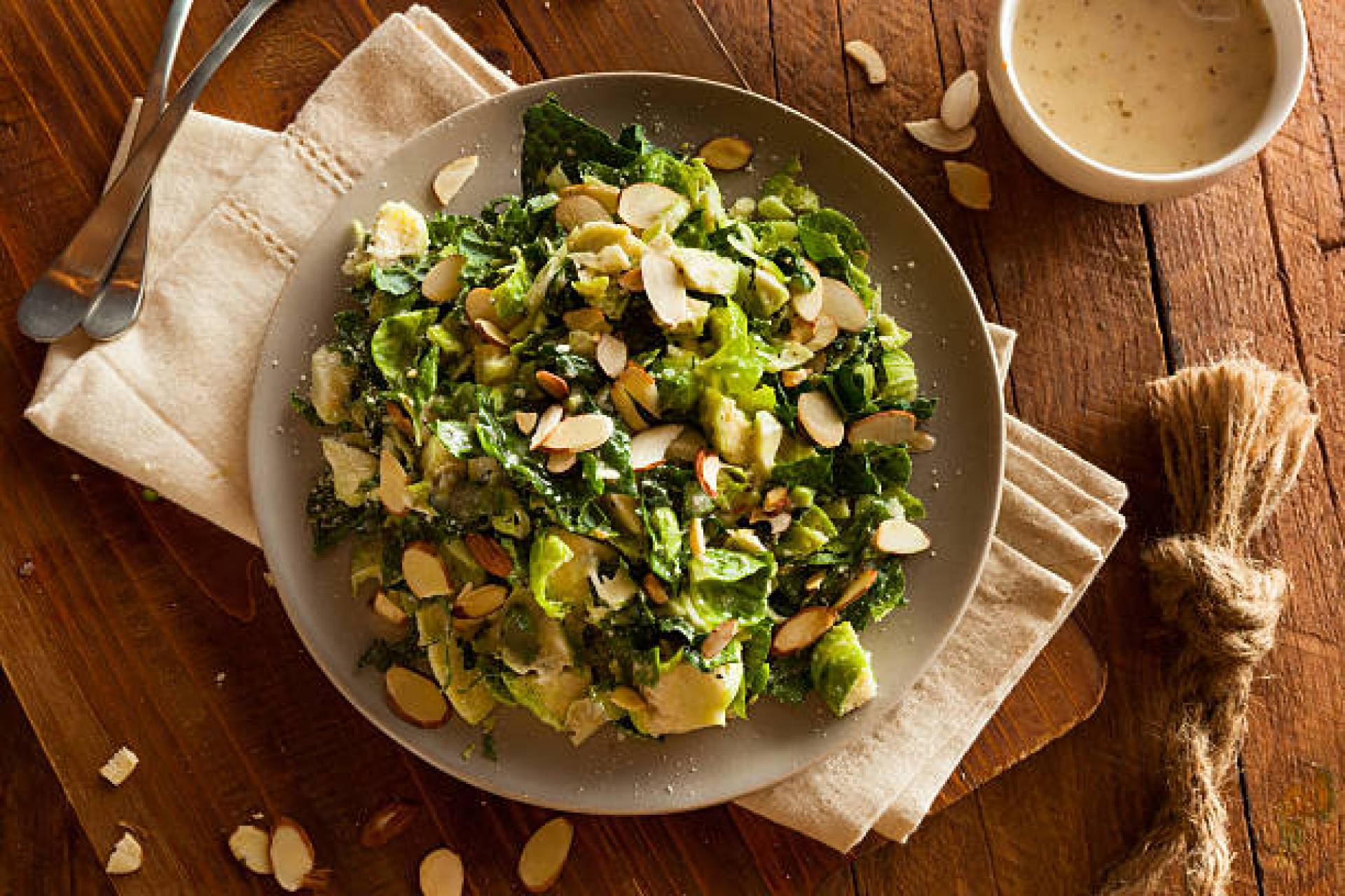 * Brussels Sprout Salad with Grilled Chicken