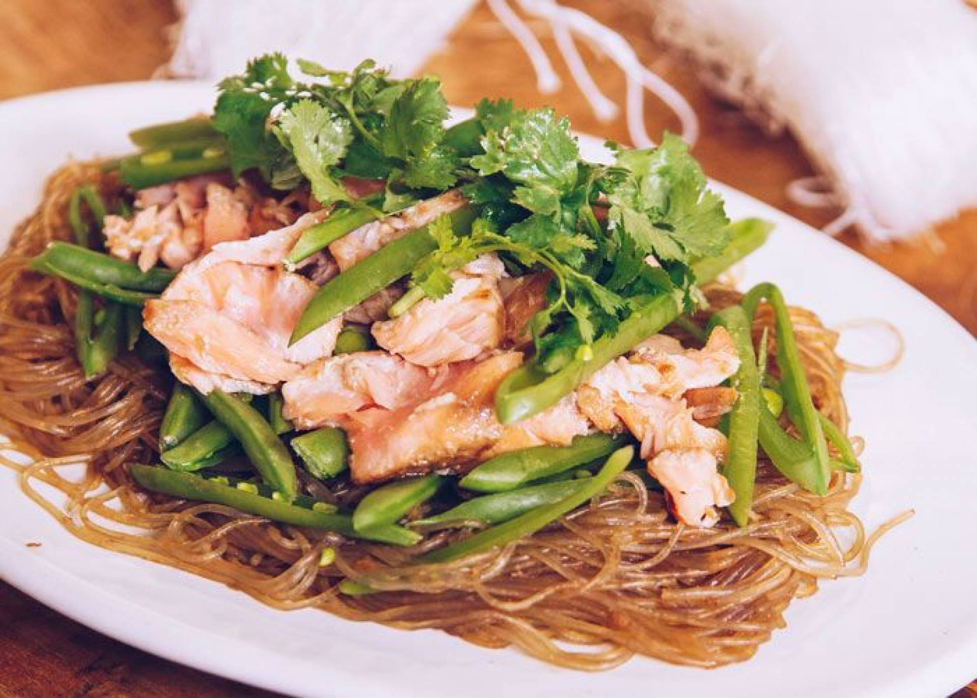 * Spicy Salmon Noodles