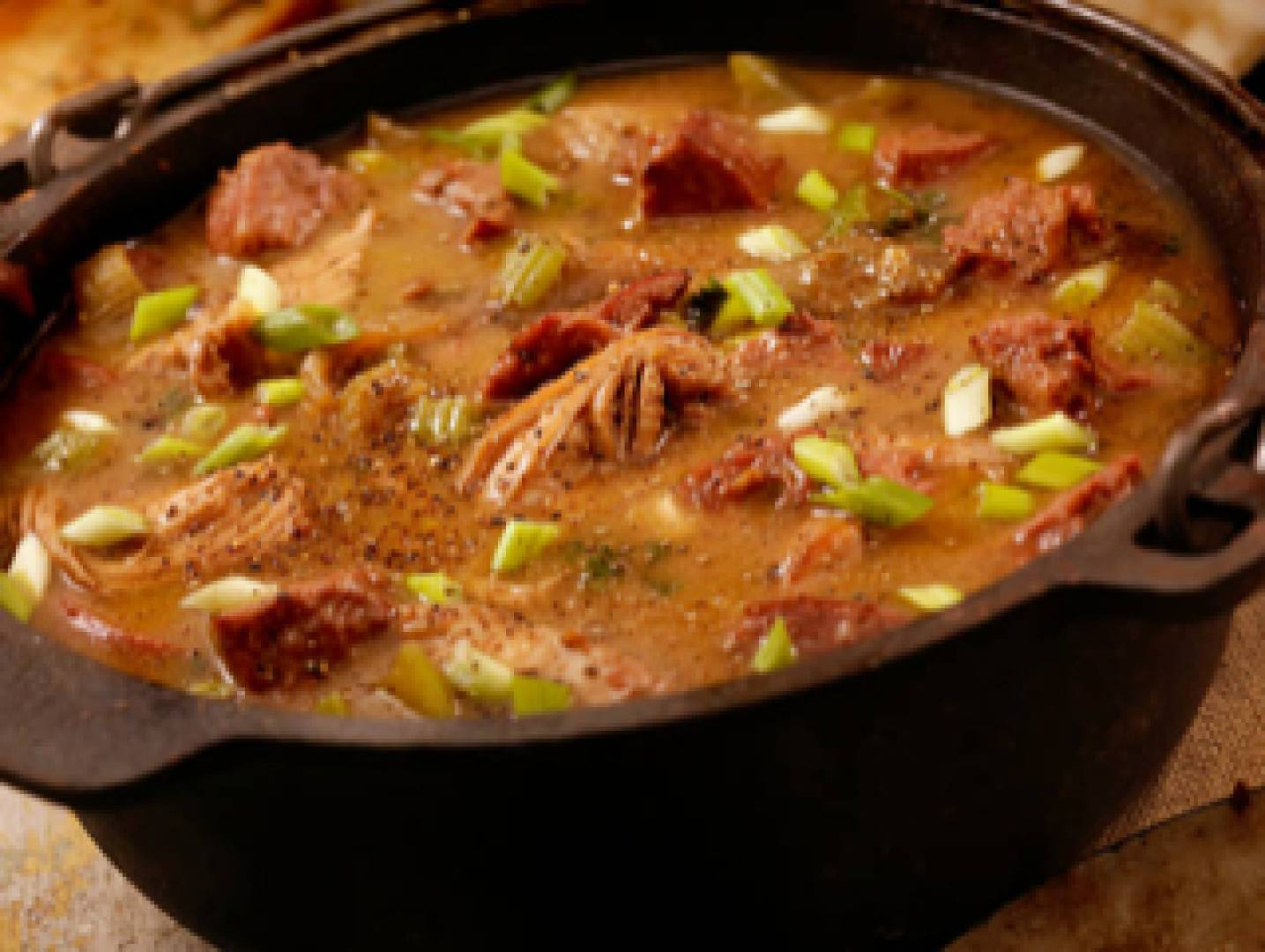 Spicy Andouille Sausage Soup